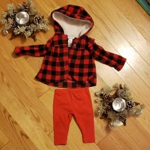 Buffalo plaid print set